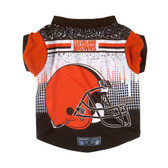 Cleveland Browns Pet Performance Tee Shirt Size S