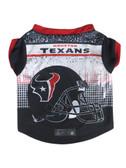 Houston Texans Pet Performance Tee Shirt Size L