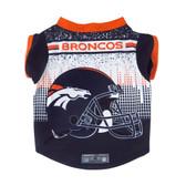 Denver Broncos Pet Performance Tee Shirt Size S