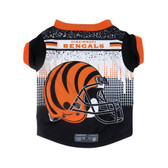 Cincinnati Bengals Pet Performance Tee Shirt Size L