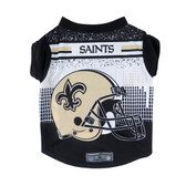 New Orleans Saints Pet Performance Tee Shirt Size XS