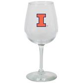 Illinois Fighting Illini 12.75oz Decal Wine Glass