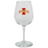 Iowa State Cyclones 12.75oz Decal Wine Glass