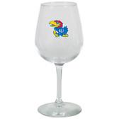 Kansas Jayhawks 12.75oz Decal Wine Glass