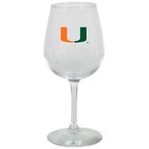 Miami Hurricanes 12.75oz Decal Wine Glass