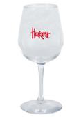 Nebraska Cornhuskers 12.75oz Decal Wine Glass