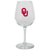 Oklahoma Sooners 12.75oz Decal Wine Glass
