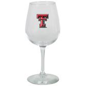 Texas Tech Red Raiders 12.75oz Decal Wine Glass