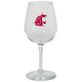 Washington State Cougars 12.75oz Decal Wine Glass