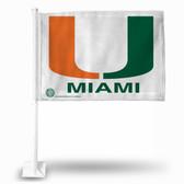 Miami Hurricanes Logo Car Flag