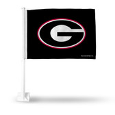 Georgia Bulldogs 'G' on Black Car Flag