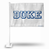 Duke Blue Devils Block Letter Car Flag