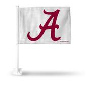 Alabama Crimson Tide - A Logo - White Car Flag