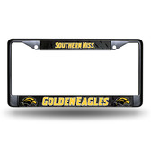 Southern Miss Golden Eagles BLACK Chrome Frame