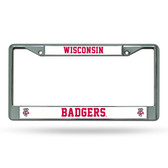 Wisconsin Badgers  Chrome Frame