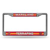 Maryland Terrapins Bling Chrome Frame