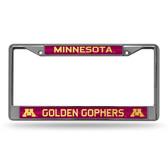 Minnesota Golden Gophers Bling Chrome Frame