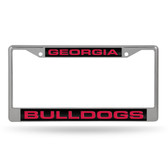 Georgia Bulldogs  LASER Chrome Frame