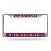 Clemson Tigers  LASER Chrome Frame