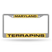 Maryland Terrapins  LASER Chrome Frame