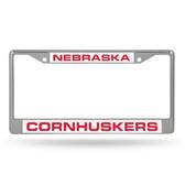 Nebraska Cornhuskers  LASER Chrome Frame