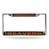 Oregon Ducks  STATE LASER Chrome Frame BLACK INSERT
