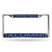 Memphis Tigers ALUMNI BLUE LASER Chrome Frame