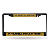 Wake Forest Demon Deacons BLACK LASER Chrome Frame