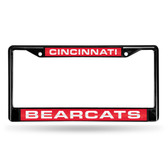 Cincinnati Bearcats BLACK LASER Chrome Frame