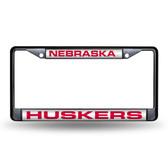 """Nebraska Cornhuskers """"HUSKERS"""" LASER Chrome Frame"""