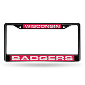 Wisconsin Badgers  BLACK LASER Chrome Frame