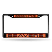 Oregon State Beavers BLACK LASER Chrome Frame