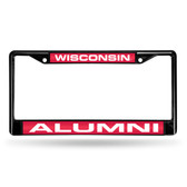 Wisconsin Badgers  ALUMNI BLACK LASER FRAME
