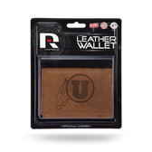 Utah Utes Leather Trifold Wallet
