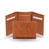 Illinois Fighting Illini Embossed Leather Trifold Wallet
