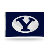 """Brigham Young Cougars """"OVAL Y LOGO"""" Banner Flag"""