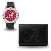 Alabama Crimson Tide Black Watch and Wallet