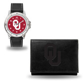 Oklahoma Sooners Black Watch and Wallet