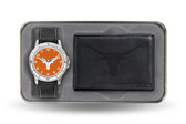 Texas Longhorns Black Watch and Wallet