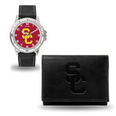 USC Trojans Black Watch and Wallet