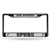 San Antonio Spurs BLACK Chrome Frame