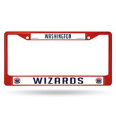 Washington Wizards COLORED Chrome Frame SECONDARY RED