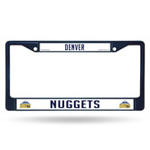 Denver Nuggets NAVY COLORED Chrome Frame