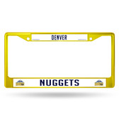 Denver Nuggets COLORED Chrome Frame SECONDARY YELLOW