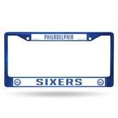 Philadelphia 76ers COLORED Chrome Frame SECONDARY BLUE