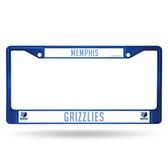 Memphis Grizzlies BLUE COLORED Chrome Frame