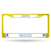 Memphis Grizzlies COLORED Chrome Frame SECONDARY YELLOW