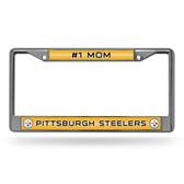 Pittsburgh Steelers # 1 MOM Pittsburgh Steelers GLITTER Chrome Frame