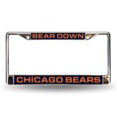 """Chicago Bears """"BEAR DOWN"""" LASER Chrome Frame"""