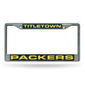 "Green Bay Packers ""TITLETOWN"" LASER Chrome Frame"